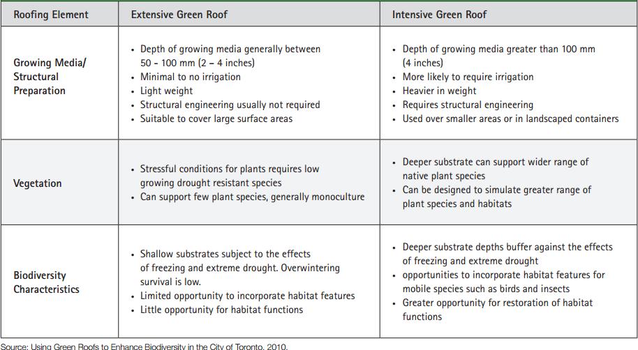 Extensive & Intensive Green Roofs