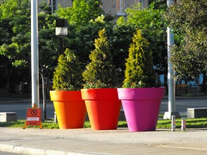 Giant Flower Pots by meddygarnet