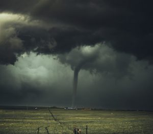 tornado on farm land