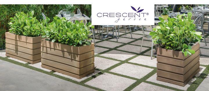 Crescent Garden Planters