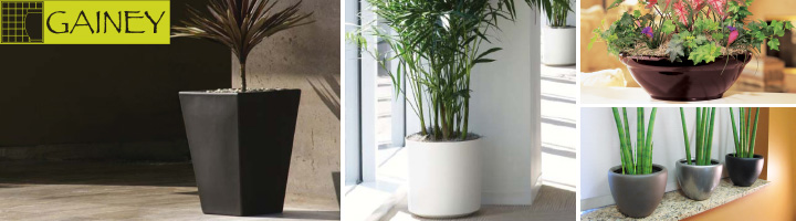 Gainey Fiberglass & Ceramic Planters