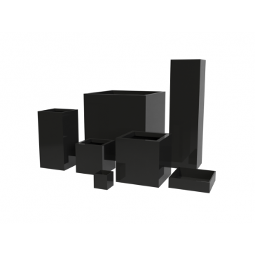 Jay Scotts Fiberglass Cube and Column Planter Collection
