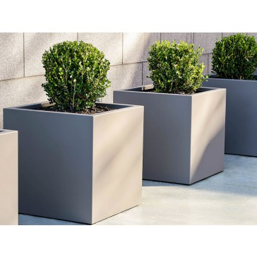 Aluminum Cube Planter Pot