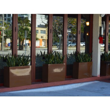 Milano Long Rectangle Fiberglass Planter