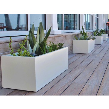 Montserrat Rectangle Fiberglass Planter