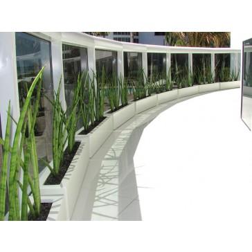 Salon Rectangle Fiberglass Planter