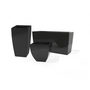 Jay Scotts Fiberglass Tapered Square and Rectangle Planter Collection