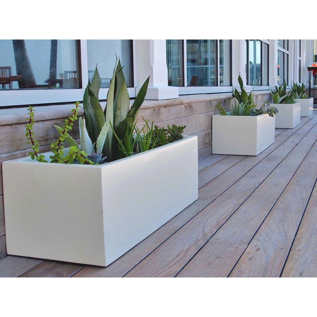 Montserrat Rectangle Fibergl Planter Zoom