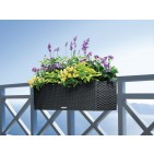 Lechuza Balconera Cottage Patio Deck Rail Planter