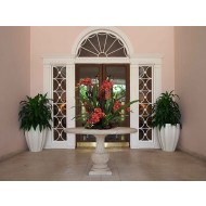 Alicante Round Fluted Fiberglass Planter