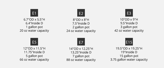 Eco Sub-Irrigation Specifications