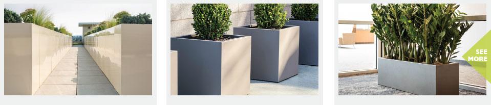 GreenLine Aluminum Planters